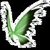 Green Black Fairy Wings