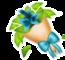 Blue Leaf Bouquet