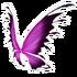 Pink Black Fairy Wings