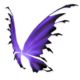 Black Purple Fairy Wings
