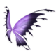 Purple Black Fairy Wings