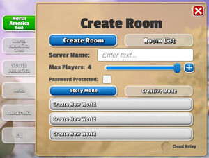 Multiplayer Create Room