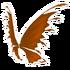 Orange Fairy Wings
