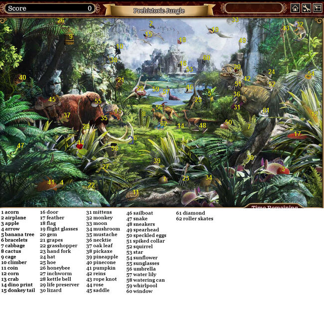 Prehistoric jungle answers