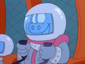 Garfield and Friends - Astronaut Orson the Pig Riding the Spaceship