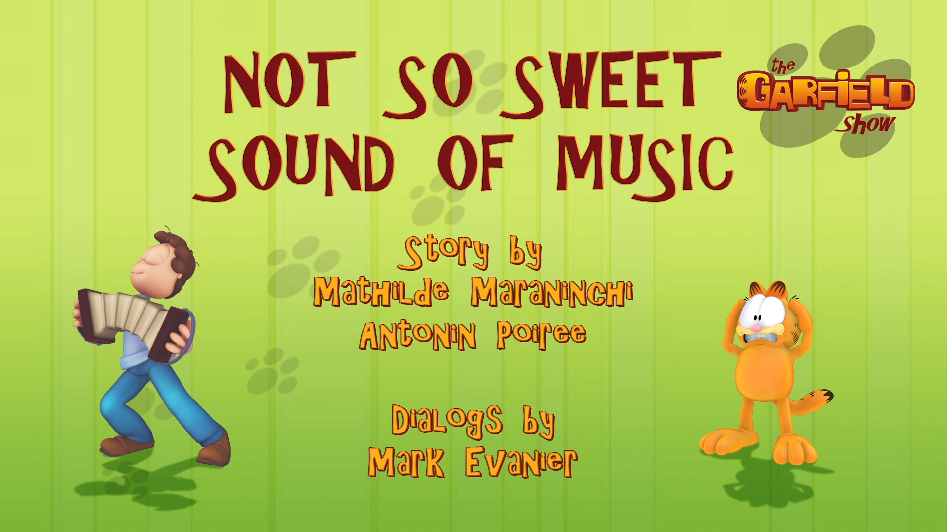 Not So Sweet Sound of Music | Garfield Wiki | FANDOM powered