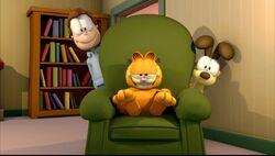Jon y Garfield y Odie