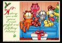 Garfield and Co Christmas Postcard 1980s