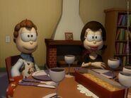 Jon and Liz at table
