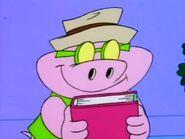 Aloysius holding a book