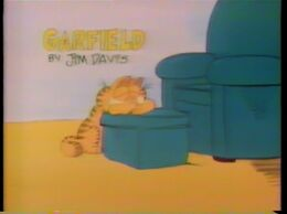 "Title card for the ""Garfield"" segment on the special."