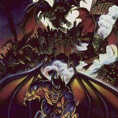 A Gargoyles poster with Goliath, Hudson, Brooklyn and Broadway.