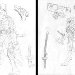 Sketches by David Hutchison and Robby Bevard <a rel=