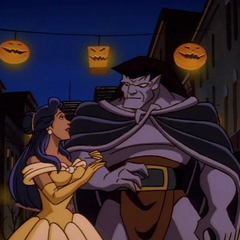 Elisa Maza and Goliath, Halloween 1995.
