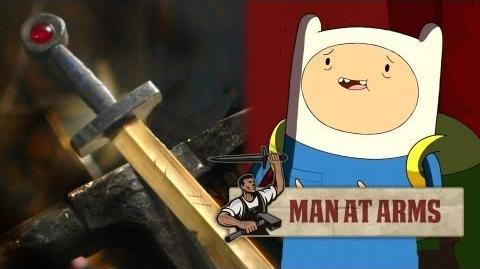 Forging Finn's Golden Sword (Adventure Time) - MAN AT ARMS