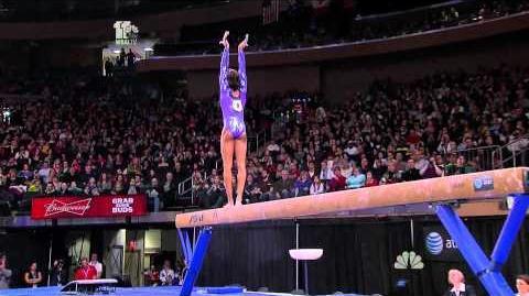 Gabrielle Douglas Balance Beam 2012 American Cup
