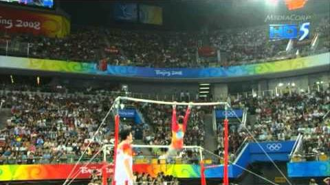 He Kexin - Uneven Bars - 2008 Olympics Team Final