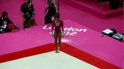 Gabrielle Douglas floor 2012 Olympics London