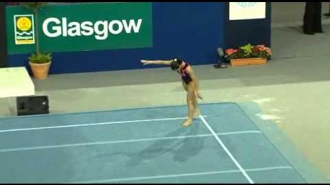 Ana María Izurieta floor exercice Glasgow World Cup 2009 All-around