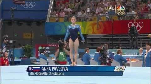 Anna Pavlova - Floor Exercise - 2008 Olympics All Around-0