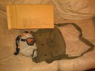 M9 Gas Mask Issued In Cardboard Box