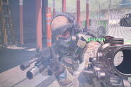 American soldier wearing m50