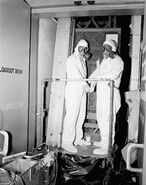 M14 Aerosol Filter in Use with M9A1 Masks, Hanford Plant