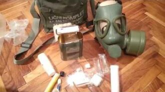 Personal protection kit with gas Mask from Cold War