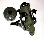Right-Handed M9A1 Gas Mask With Discolored Rubber