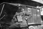 AEF Ambulance Drivers with French Masks, 1917 (2)