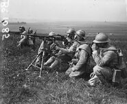 French Machine Gunners Wearing The Tissot Gas Mask