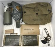 Early M3-10-6 Army Lightweight Service Mask and kit
