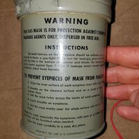Instructions of M1A2-1-1 filteration canister