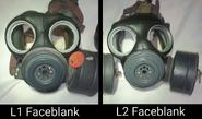 L1 & L2 LAG Faceblank Comparison on LAG Mk II masks