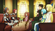 Myui watches as Itami and the Girls negociate with Pina and Hamilton Anime episode 5