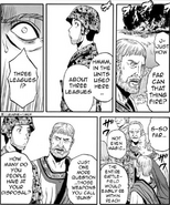 Dussie asking Itami questions Manga chapter 30 page 23