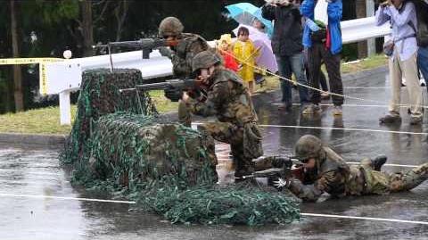 JASDF Type64 Assault rifle Demo 空自64式小銃空砲射撃20141101