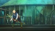 Kowan village, Tuka's Father is on the bridge Anime episode 4