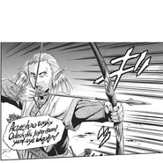 Hodor Marceau casting a spell and shooting the Flame Dragon in the eye Manga chapter 3 page 10