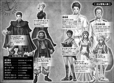 Main Characters GATE Season 2 Book 1