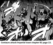 Centaurs attack Imperial town chapter 81 page 13