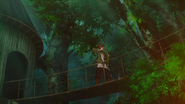 Kowan village resident shoots the Flame Dragon before death, Anime episode 4