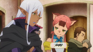 Yao and Meia at Alnus Bar Anime episode 11