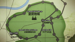 Map Imperial Palace from Anime Episode 24