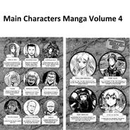 Main Characters Manga volume 4