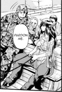 Female minotar prostitute driving wagon rescuing Bassoon Prison inmates Manga Chapter 77 page 16