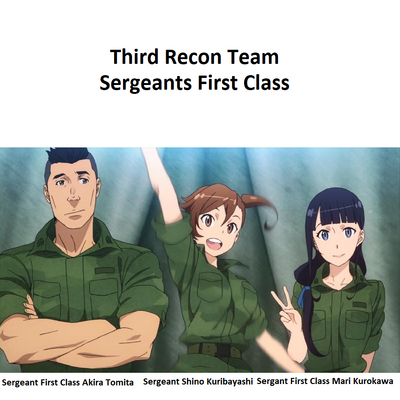 Tomita, Kuribayashi, and Kurokawa from the introductory music Season 1 Anime