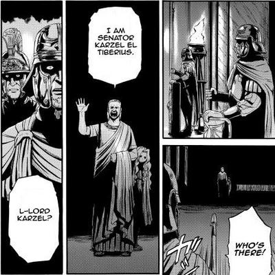 Senator Casel El Tiberius introduces himself Manga chapter 63 page 17