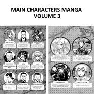 Main Characters Manga volume 3