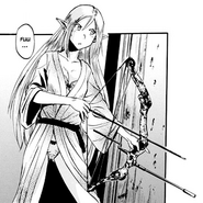 Tuka Luna Marceau with compound bow manga Chapt 22
